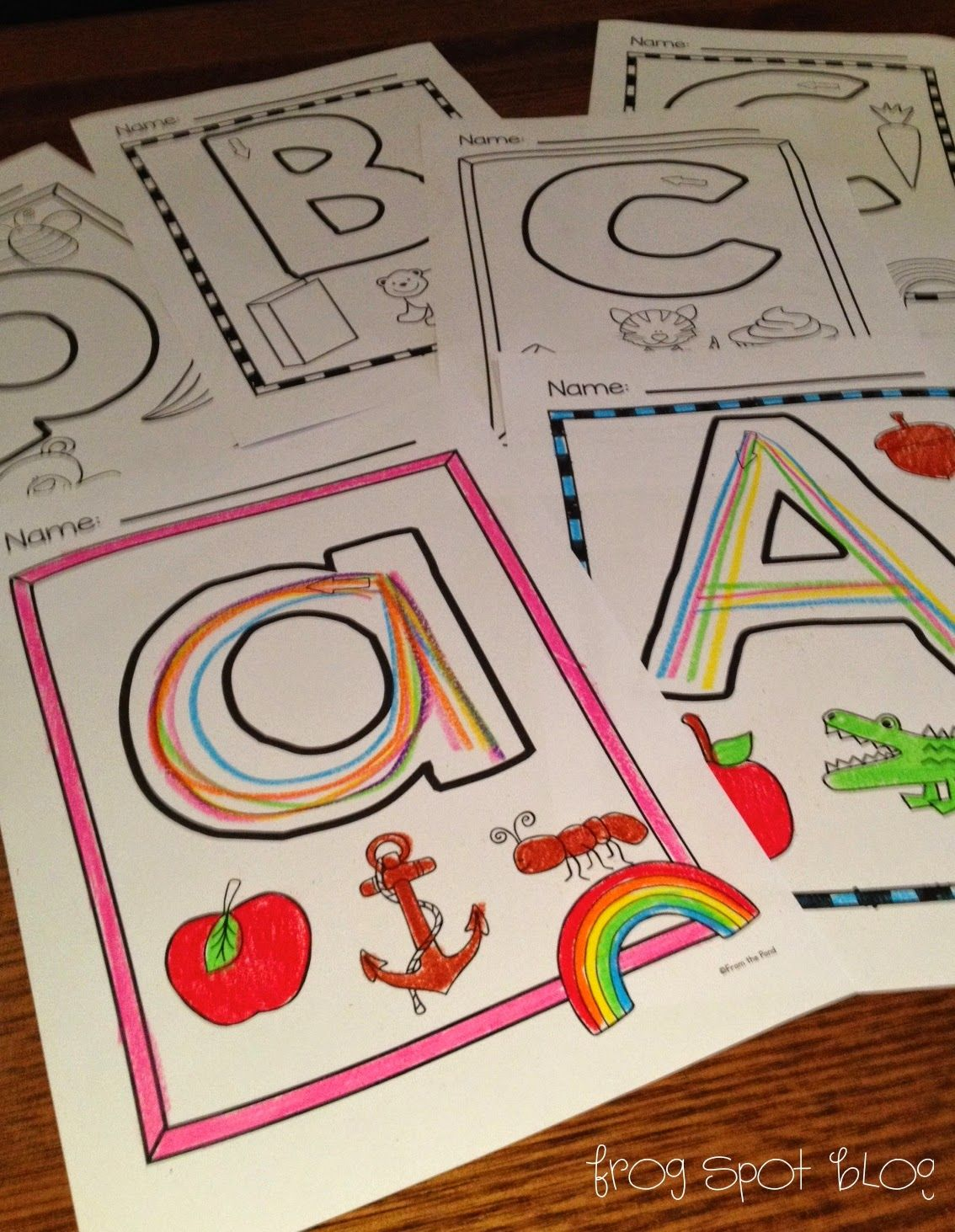 Rainbow Writing The Letters Of The Alphabet
