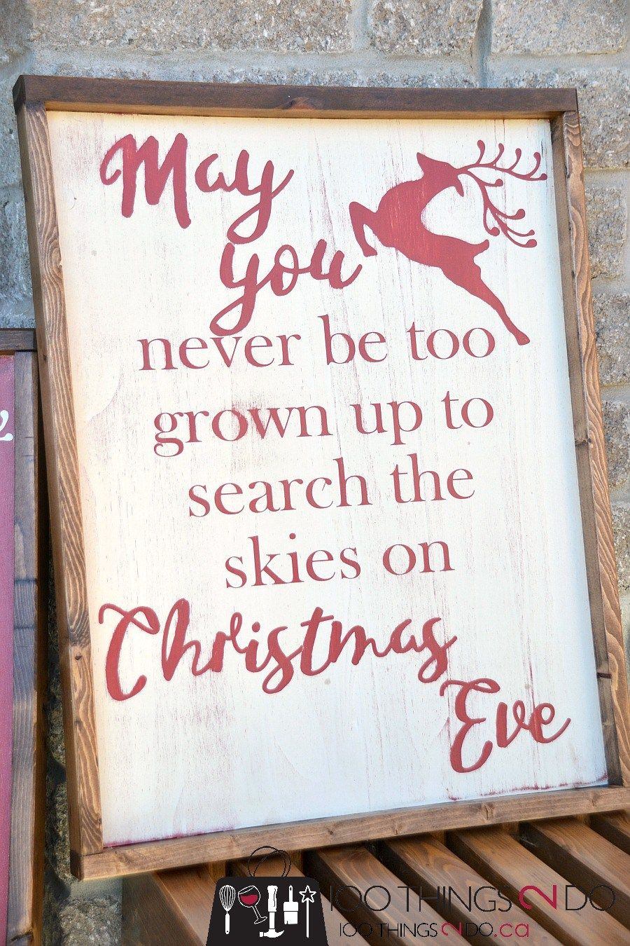 Rustic Christmas Sign (and a Fall one too) Distressed