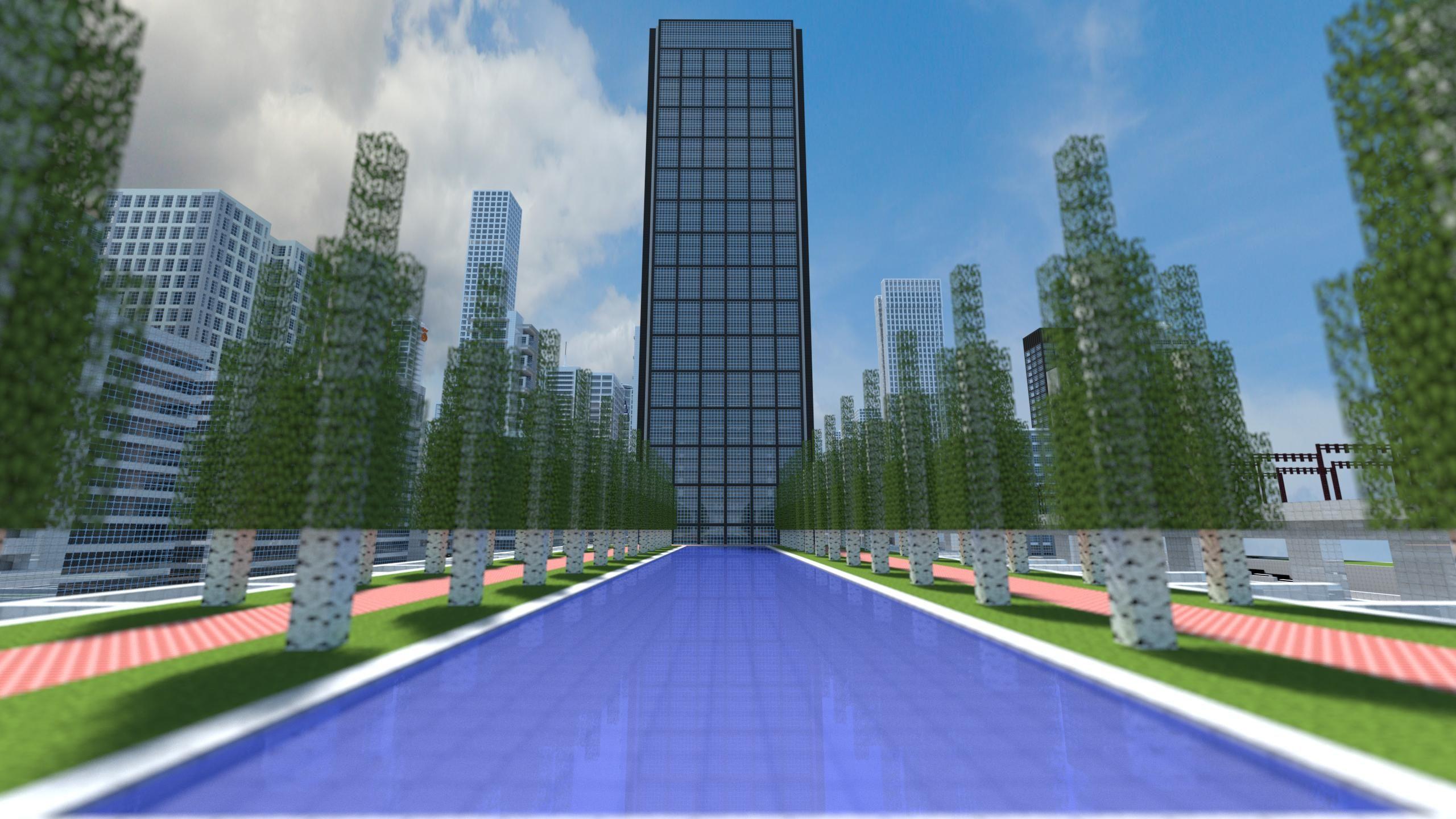 Minecraft cities minecraft city plaza Minecraft