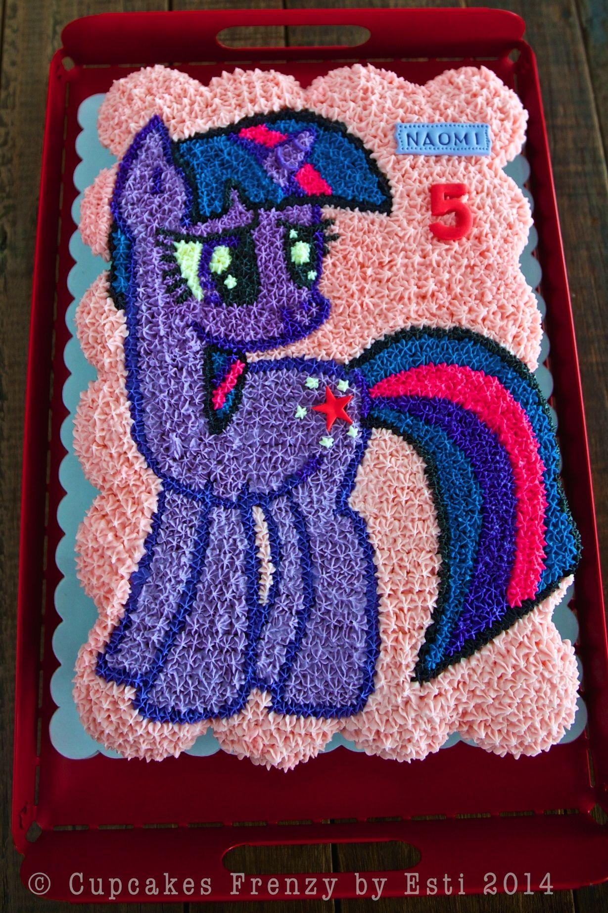 Twilight Sparkle Pull Apart Cupcakes Cake Littlepony