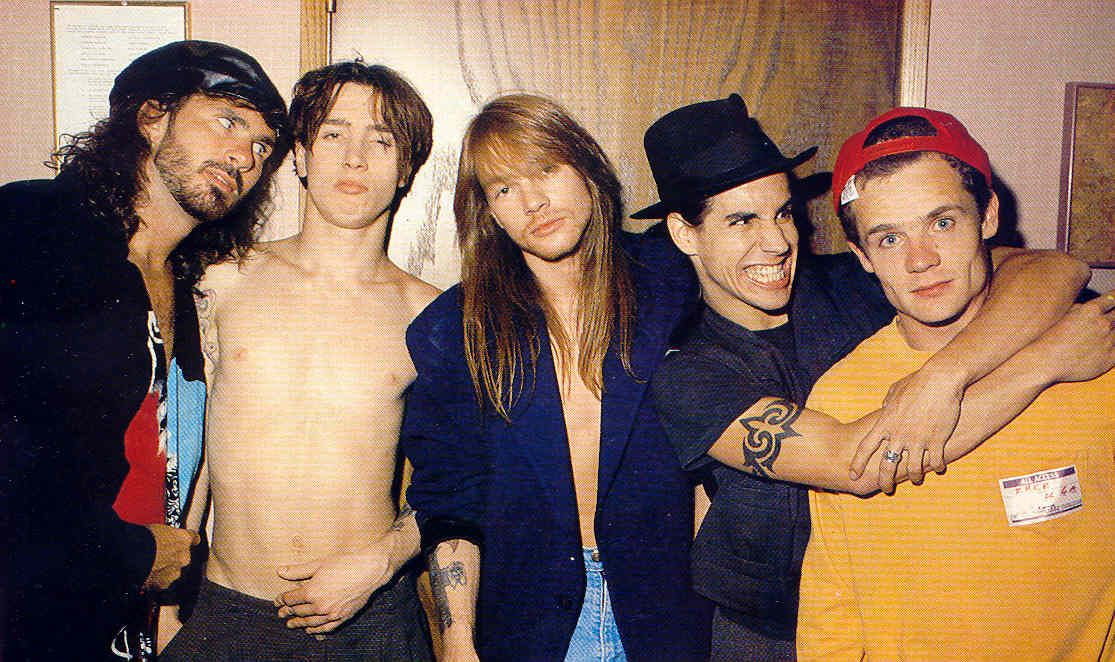 Red Hot Chili Peppers and Axl Rose Guns N' Roses