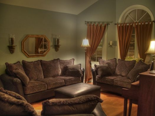 Lovely Warm Living Room Interior With Soft Blue Sofas Natural Colors For Effect New H