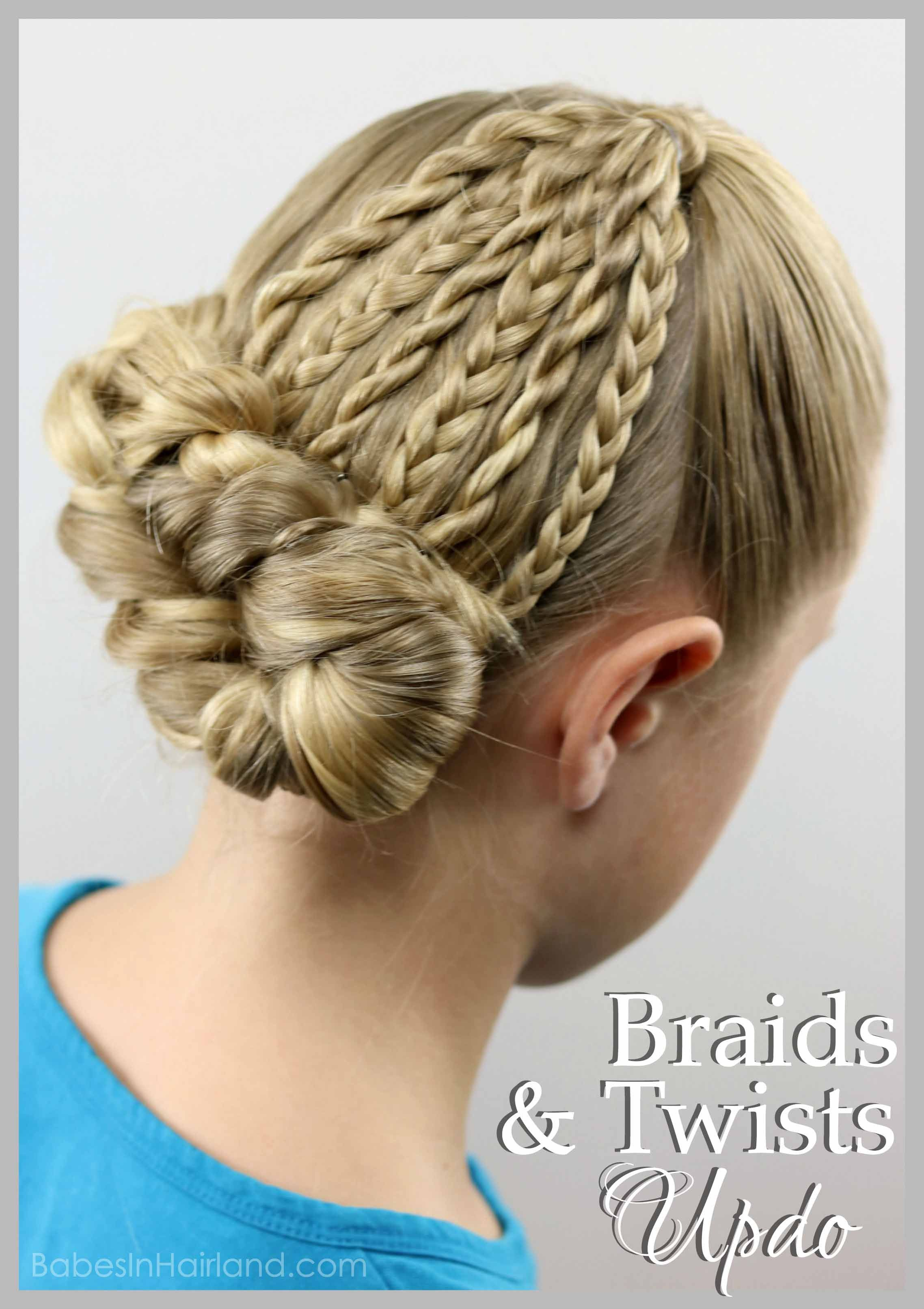 Stay cool this summer with a twists & braids updo hairstyle from