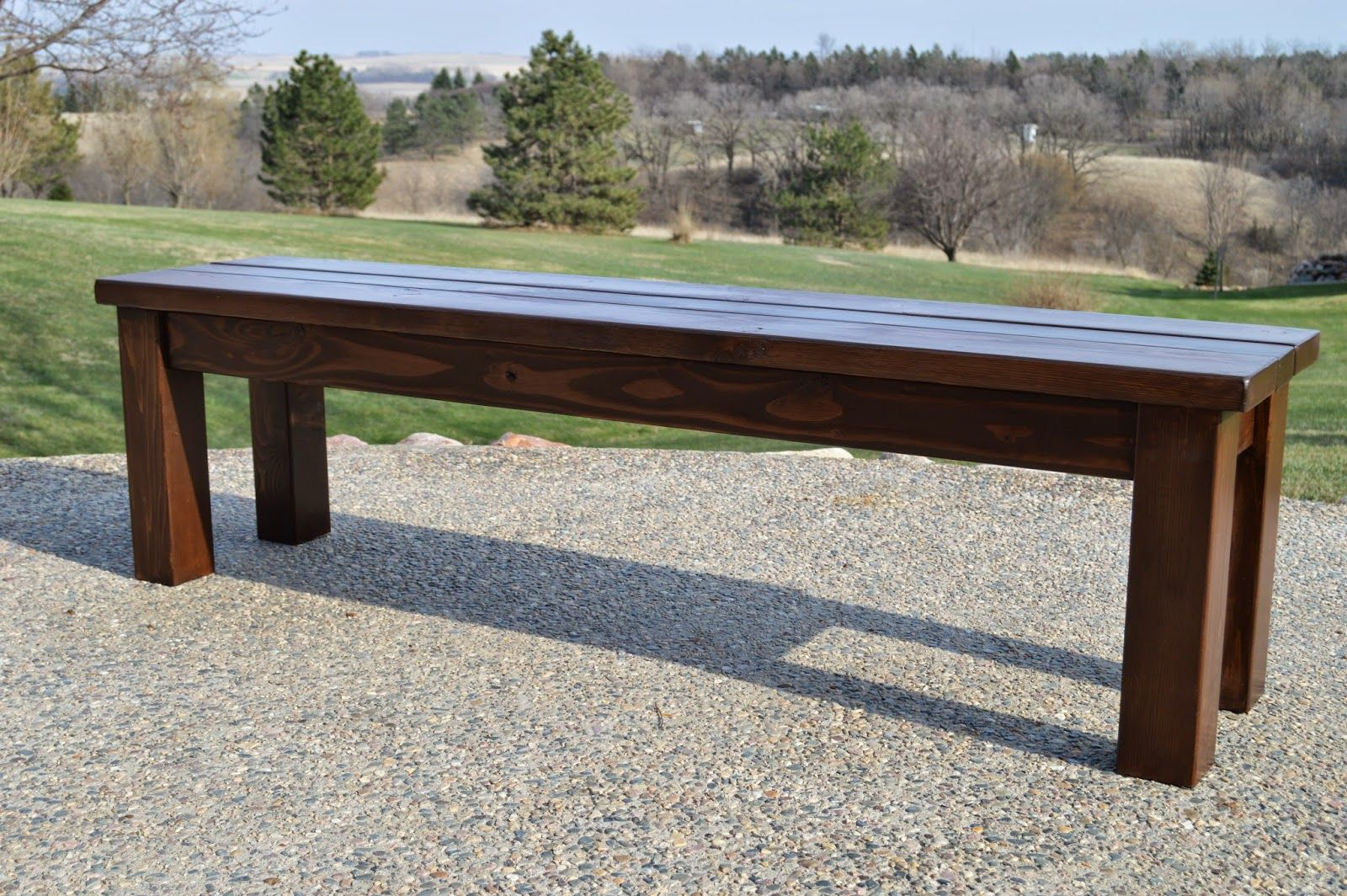 Bench Seating for Patio Table KRUSE'S Simple