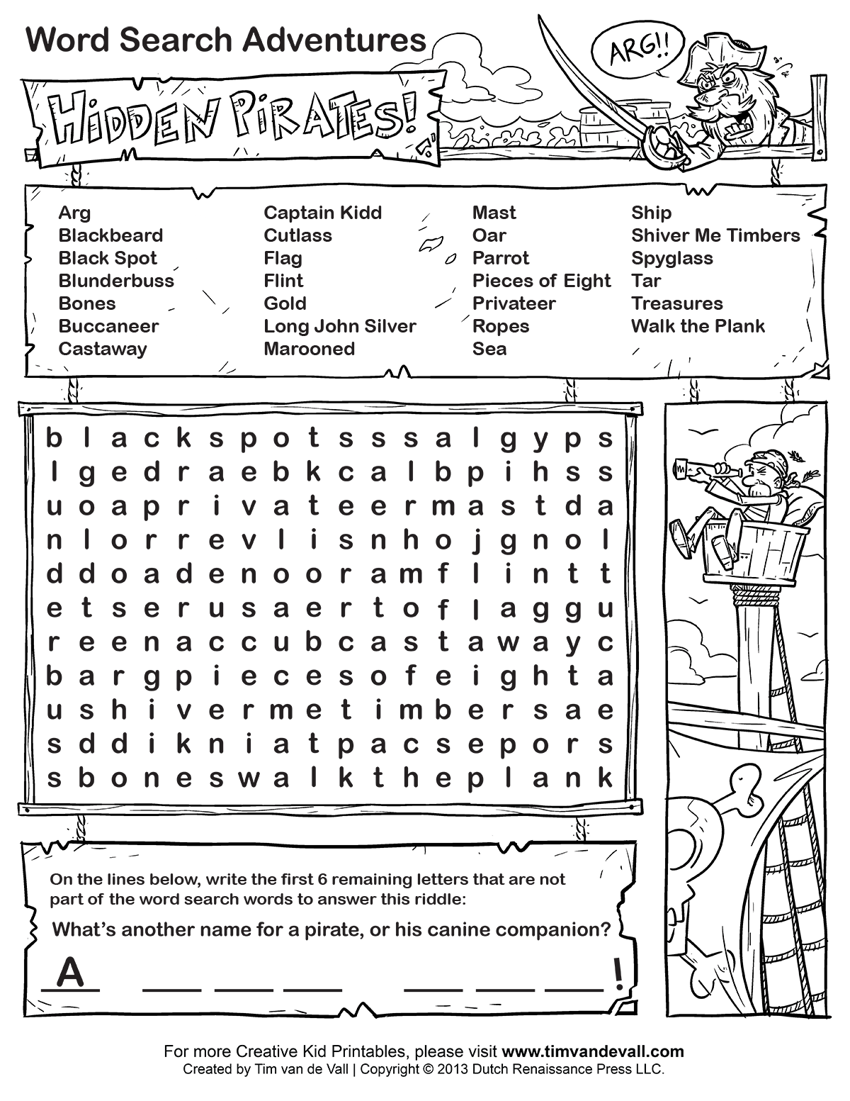 Hidden Picture Search Printables
