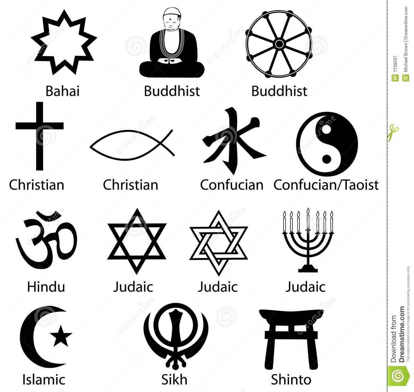 religious symbols royaltyfreestockphotography