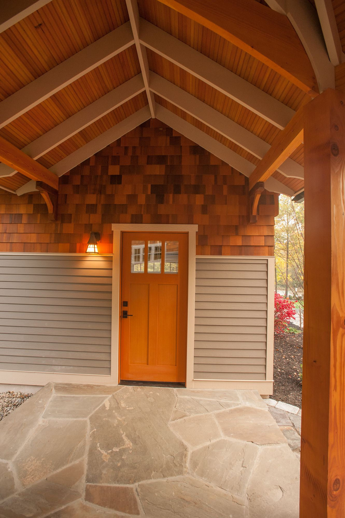 Breezeway Between Garage And House Wooden Overhead