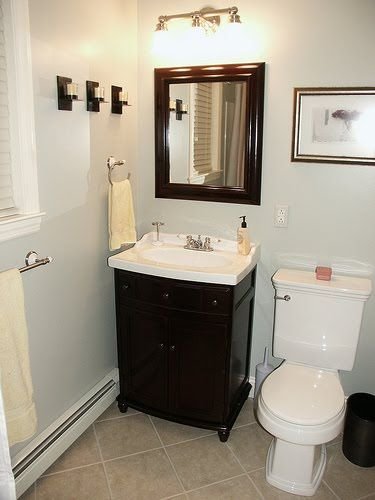 decorating small bathroom look bigger | for the manor | pinterest