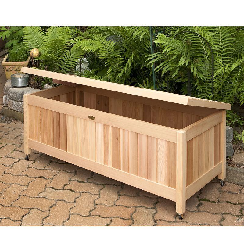 Outdoor Cedar Storage Box! Great for toys, gardening