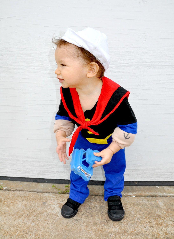 Boys babies costume Popeye the sailor man inspired kids