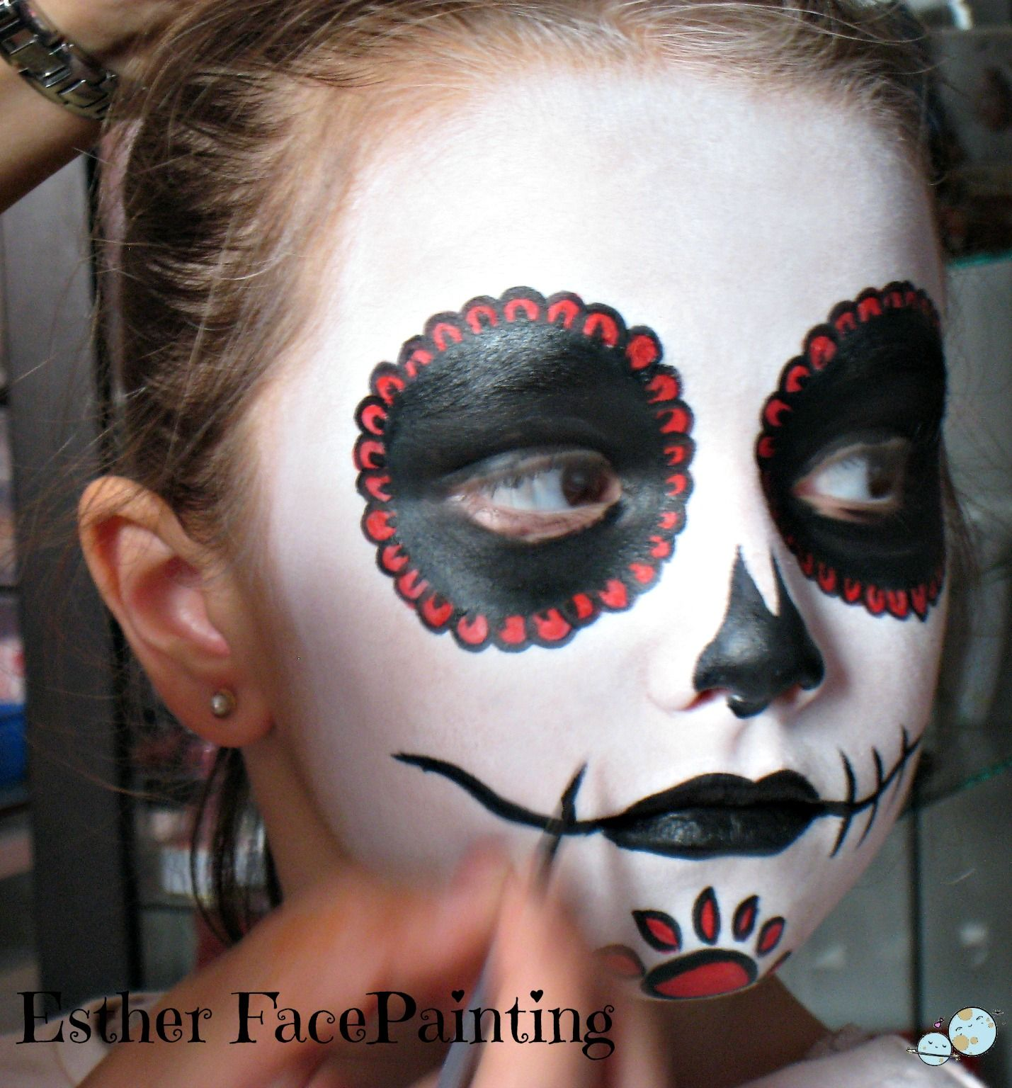 Maquillaje de halloween para niños Catrina Maquillaje