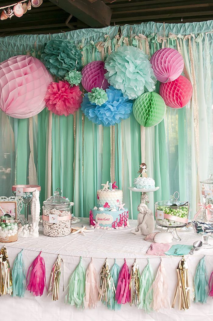 Littlest Mermaid 1st Birthday Party (kara's party ideas