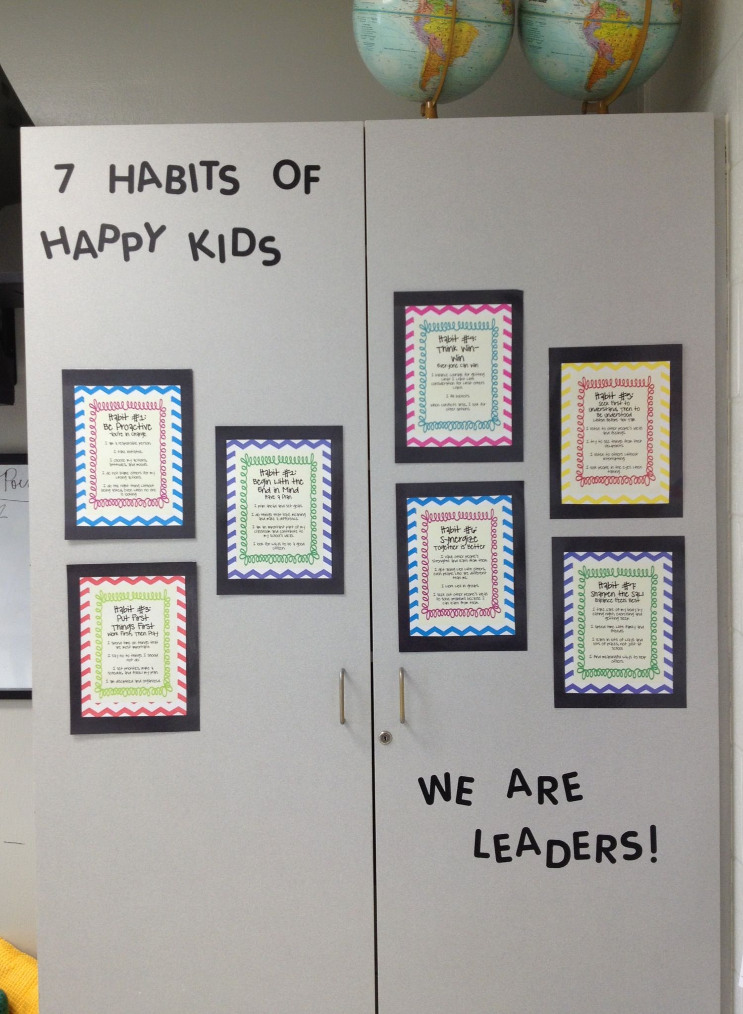 7 Habits Of Happy Kids Posters In My Classroom Find Them Here Teacherspayteachers