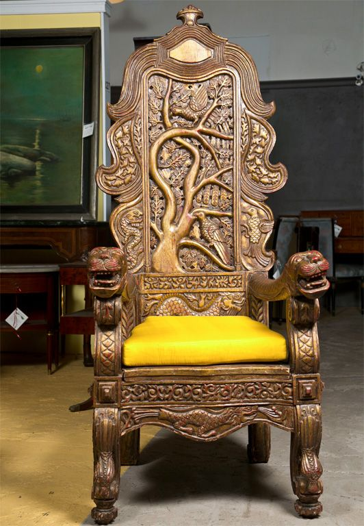Carved Chinese Throne Chair Throne Chair Armchairs And Antique Furniture
