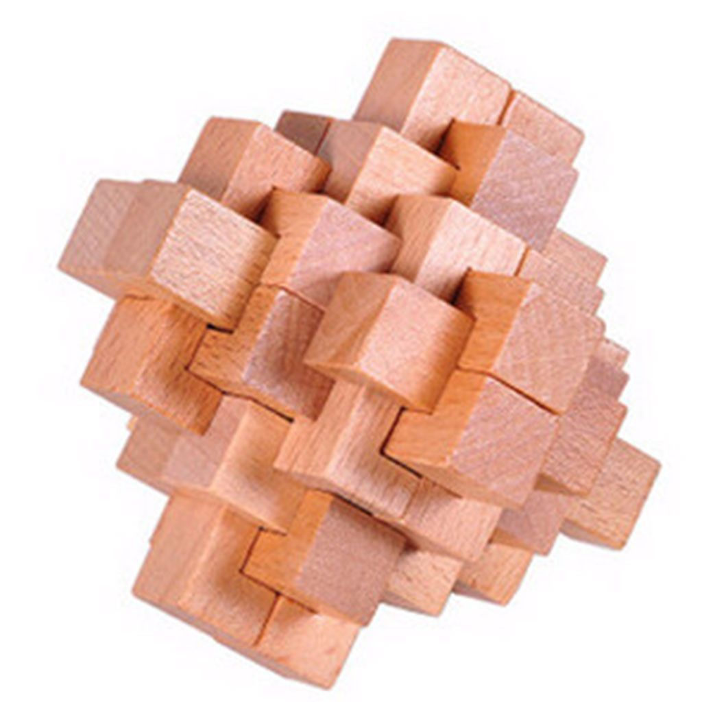 Classic Iq Brain Teaser 3d Wooden Puzzles