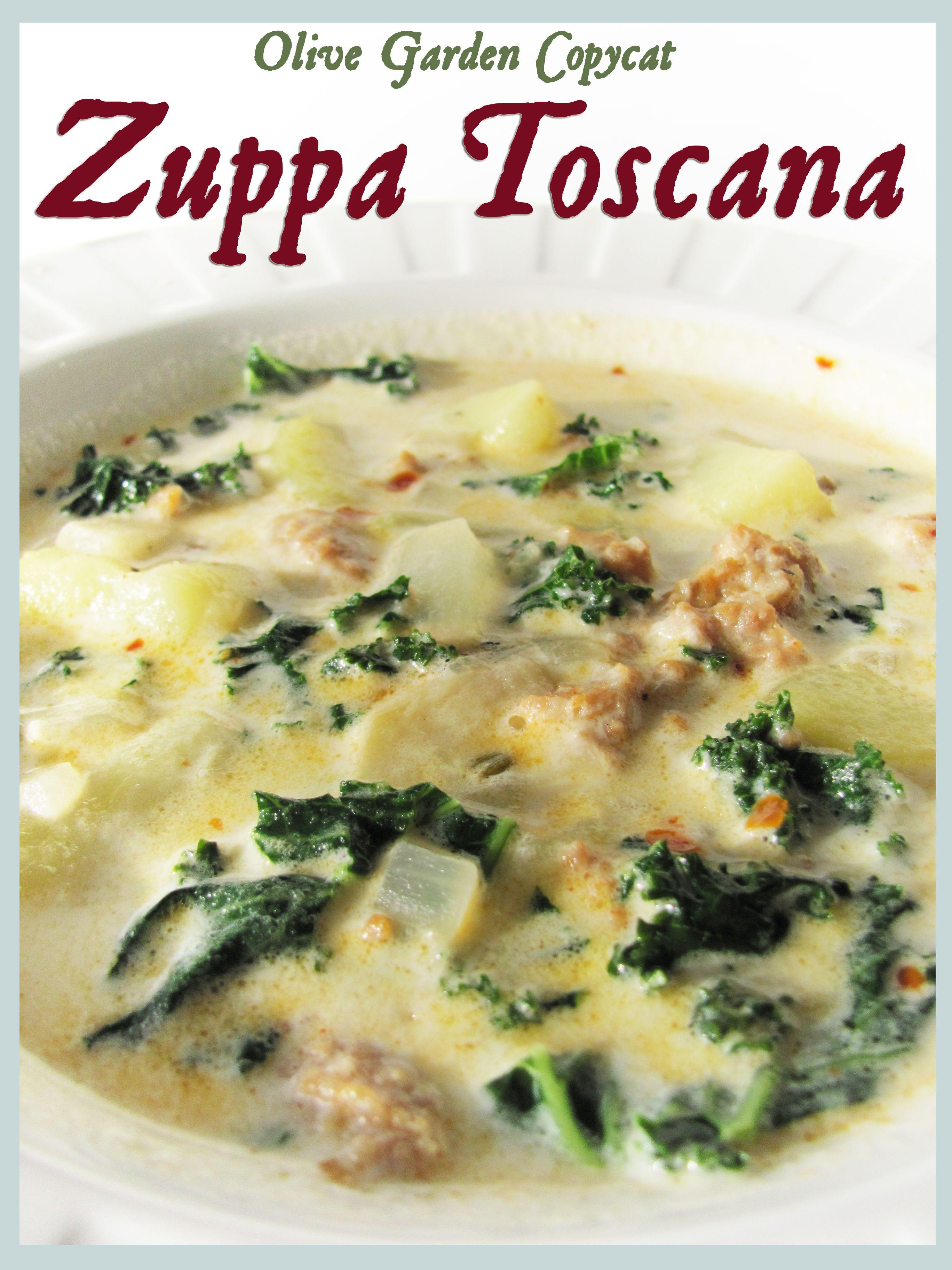Olive Garden Copycat Zuppa Toscana Recipe Zuppa