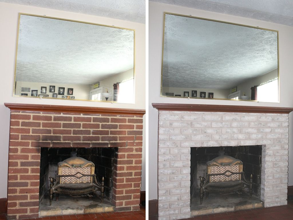 Fireplace Makeover Painting The Firebox And Mantel