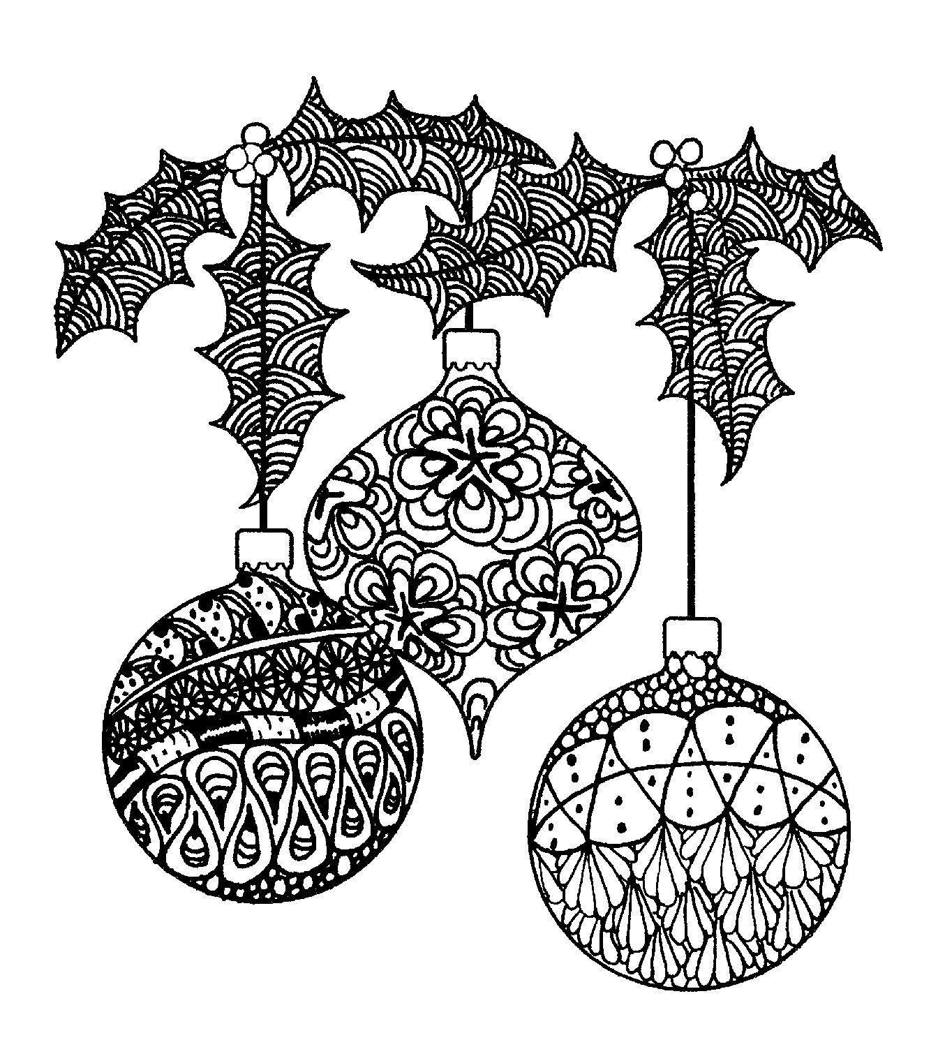 Magenta Zentangle Ornaments Rubber Cling Stampsmagenta