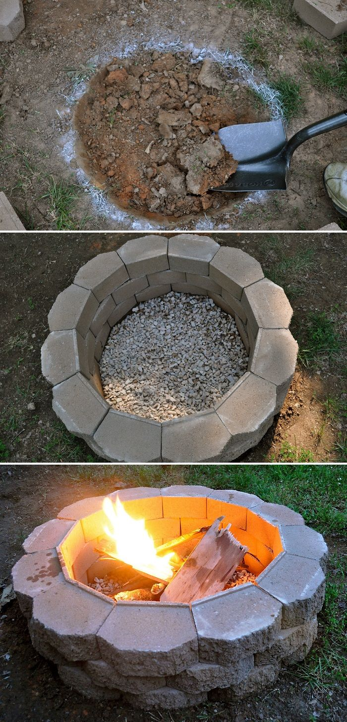 How to Build a Back Yard DIY Fire Pit (It's Easy Yards