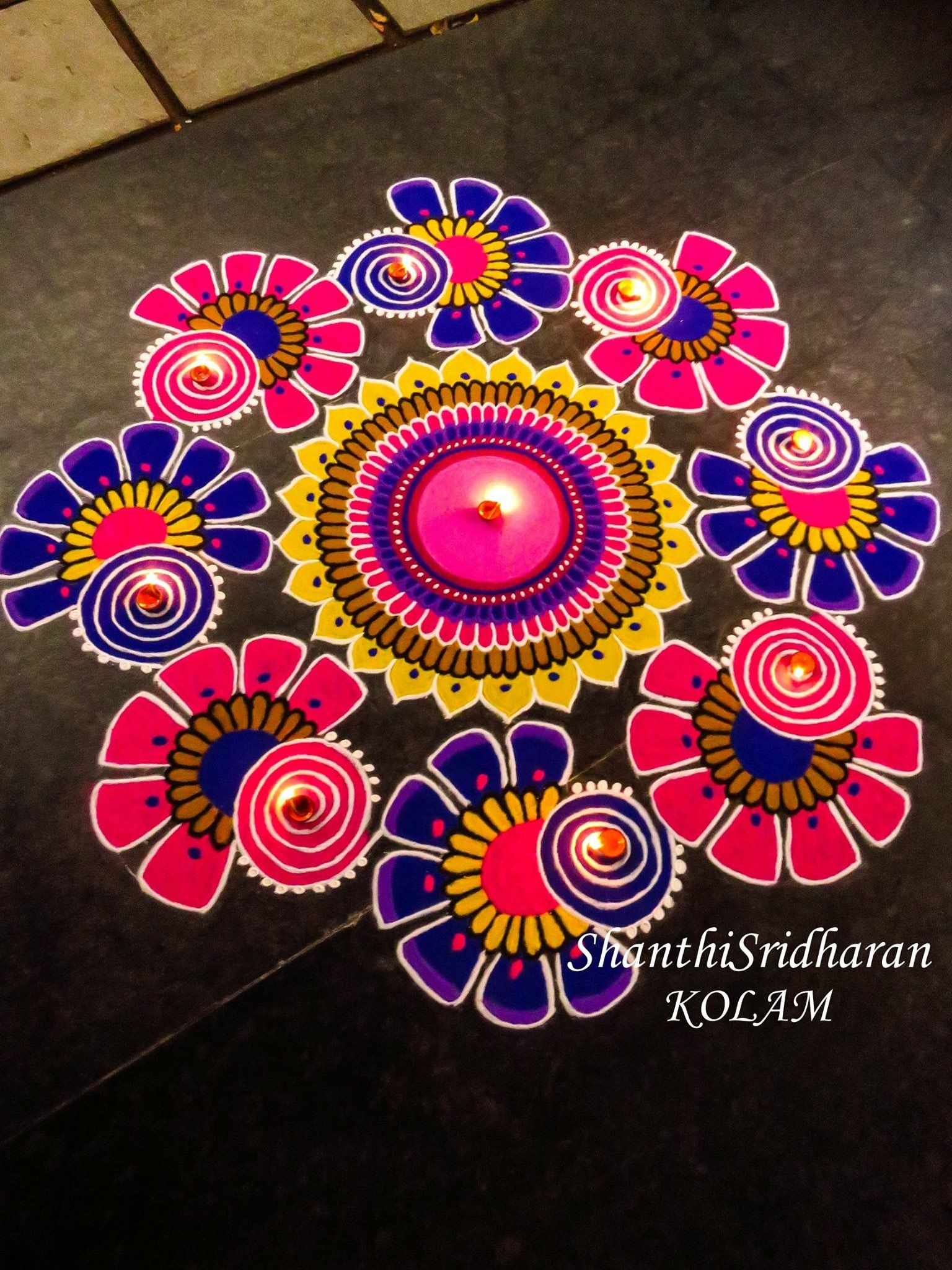 kolam mandala rangoli Pinterest Mandala, Drawing art