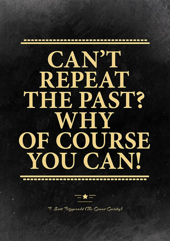 The Great Gatsby quote poster. Roaring 20s decor