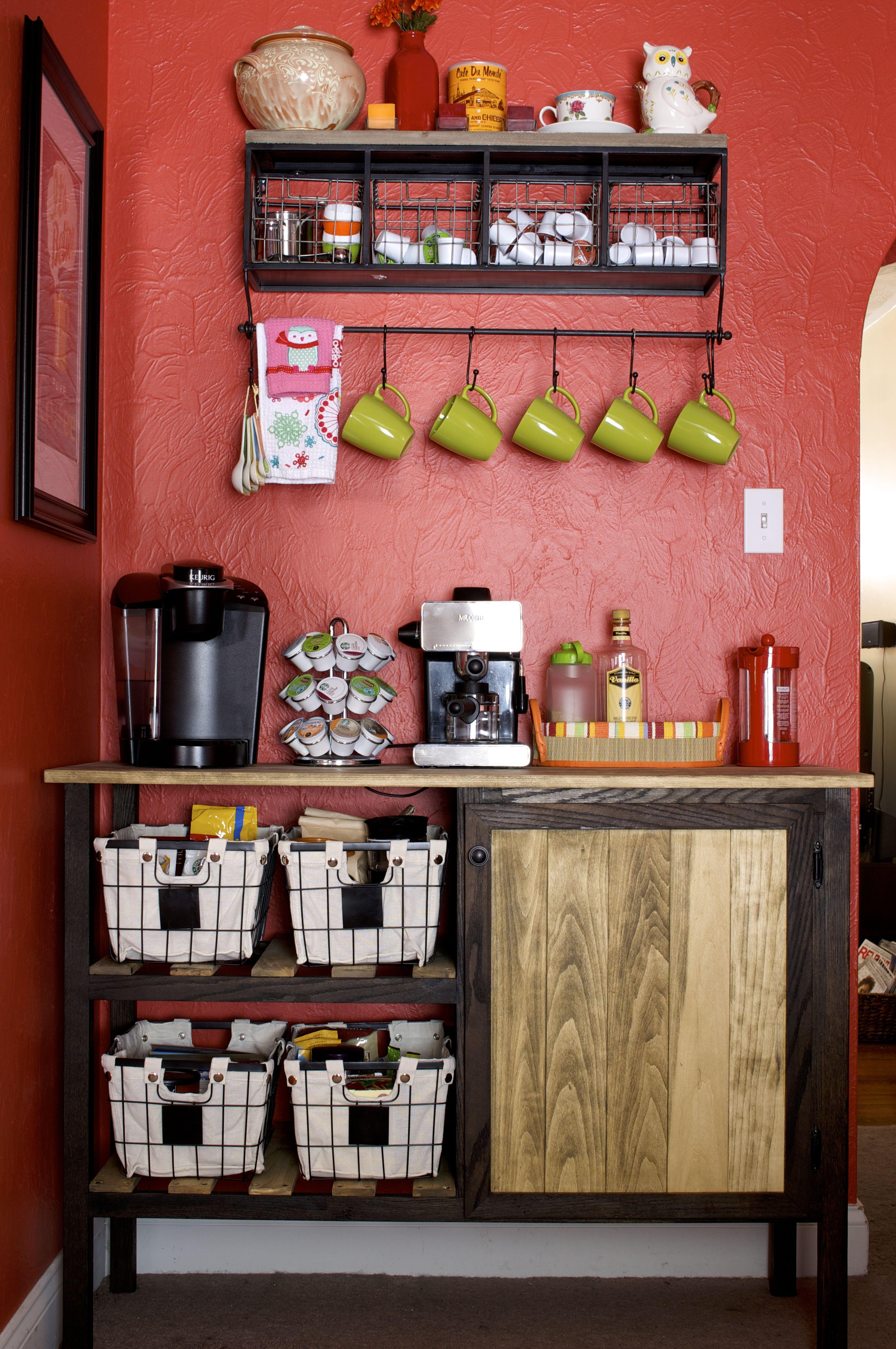 DIY Coffee Bar Coffee, Bar and Walls