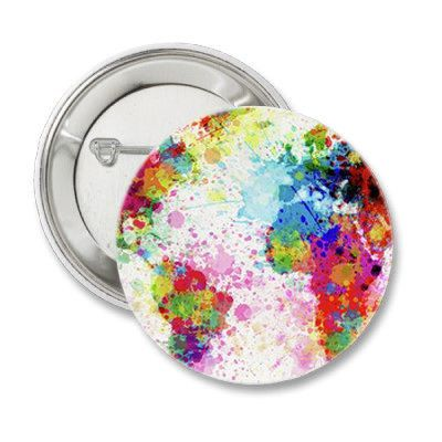 Colorful Painted Map Pinback Button  Color Map Magnet  Paint Map     Colorful Map Pinback Button Paint World by bohemianapothecarium
