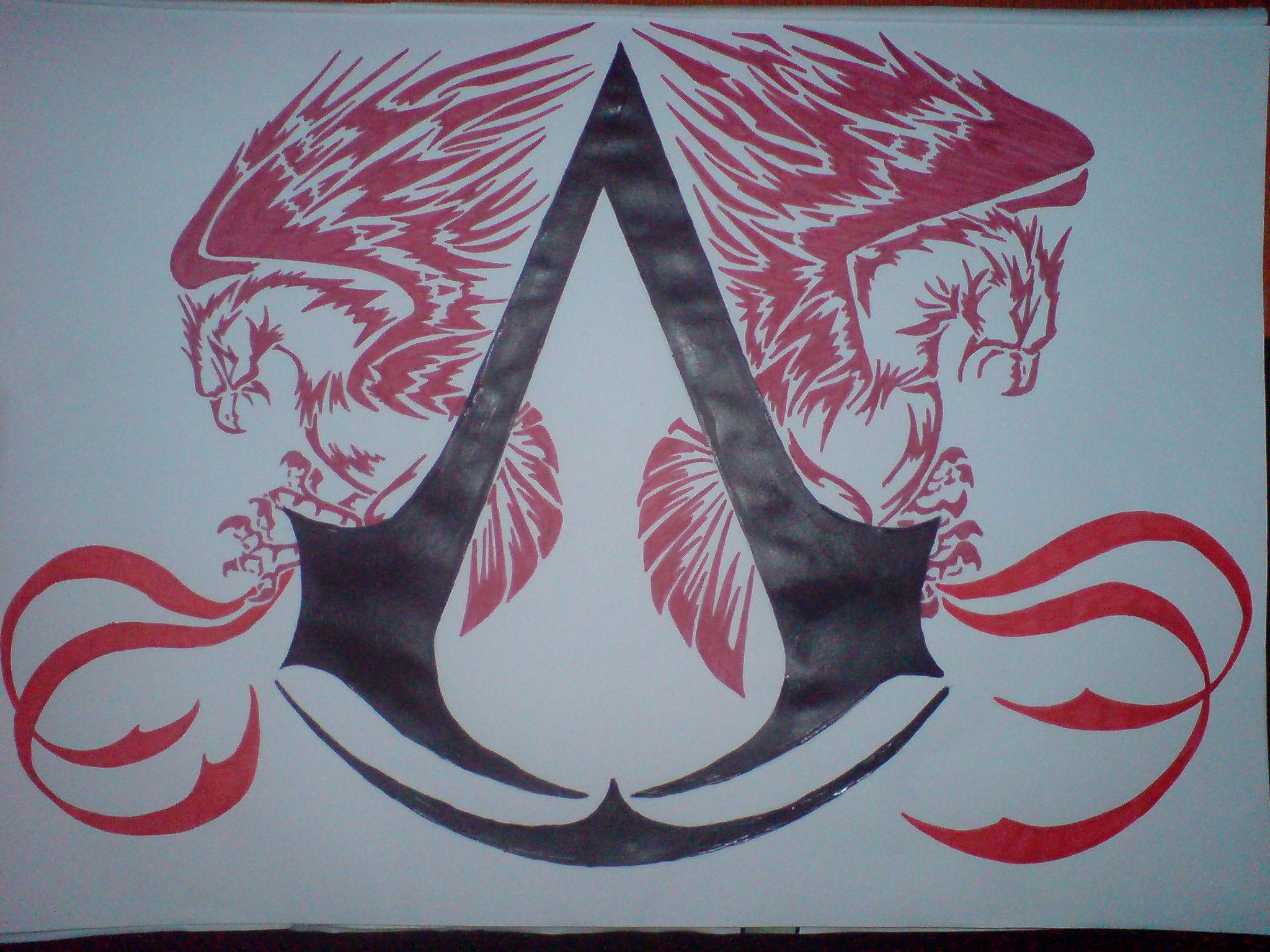 Assassins Creed Tattoo Emblem going on my hip( erica Want
