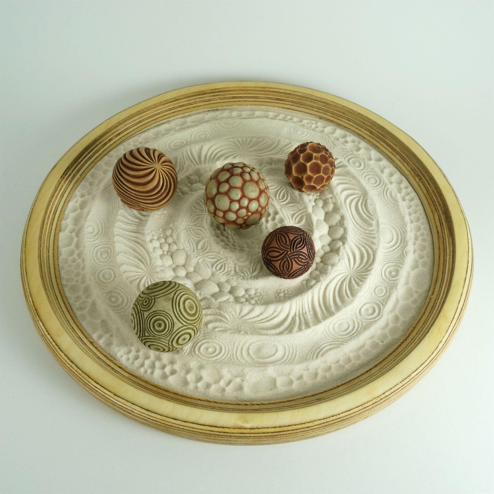 Tabletop Modern Zen Sand Garden Circles Package 15