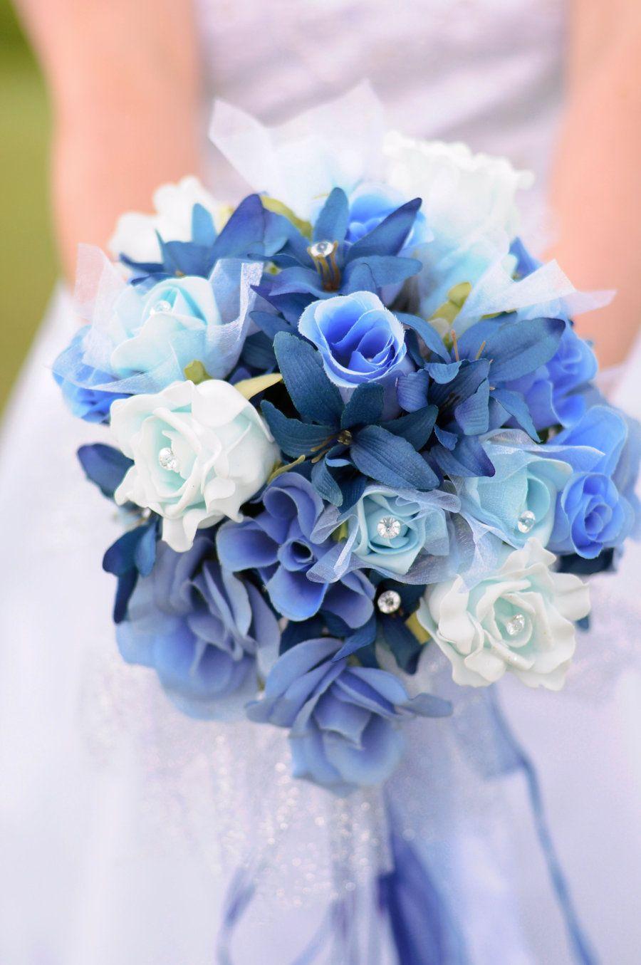 Flowers Light Blue Wedding Bouquets Wedding Photos