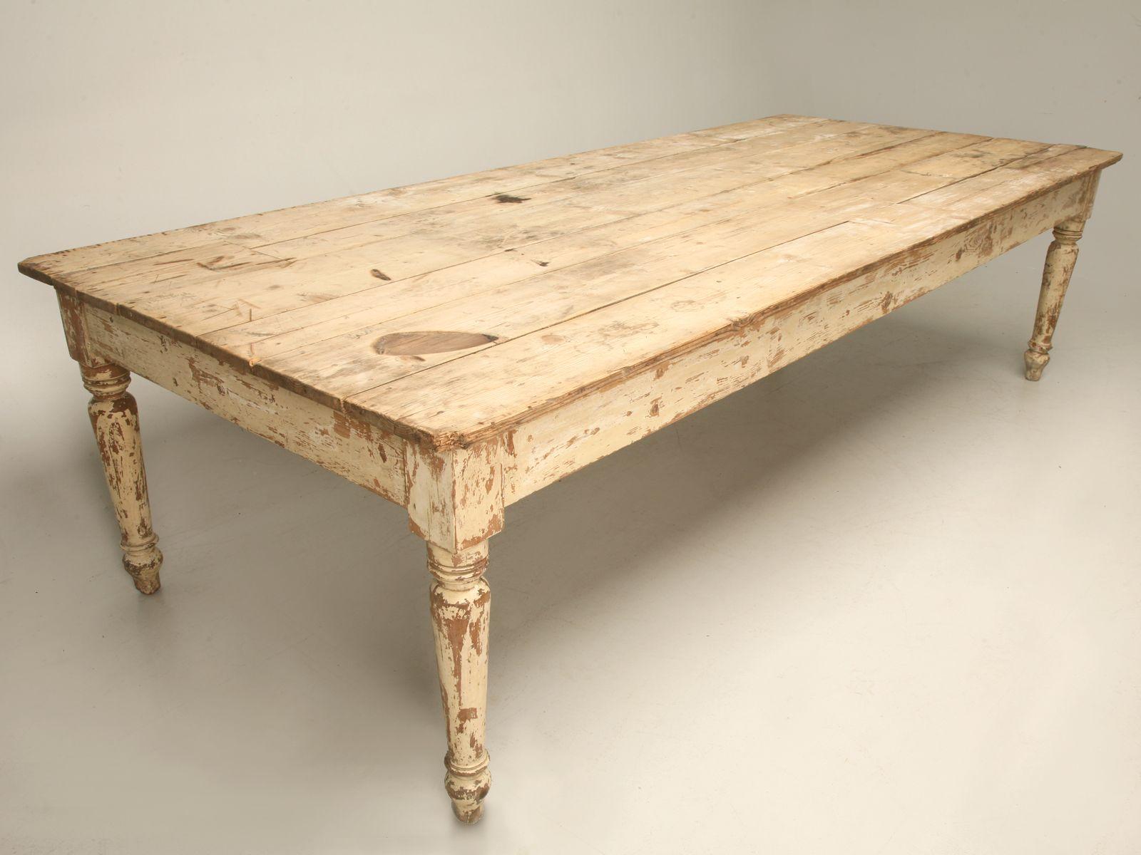 Antique scrubbed pine farm table I N S P I R A T I O N