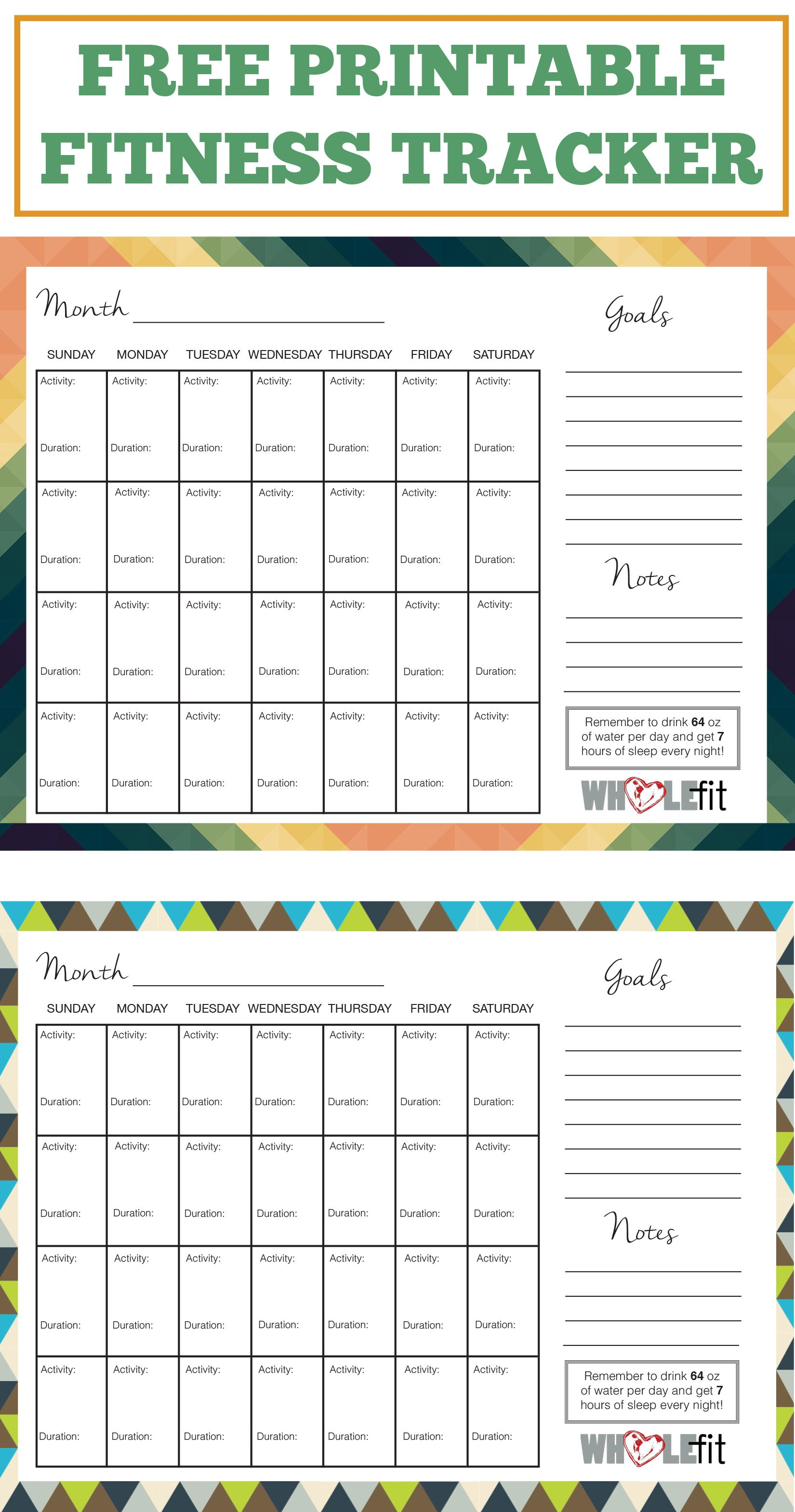 Track Your Progress With These Free Printable Fitness