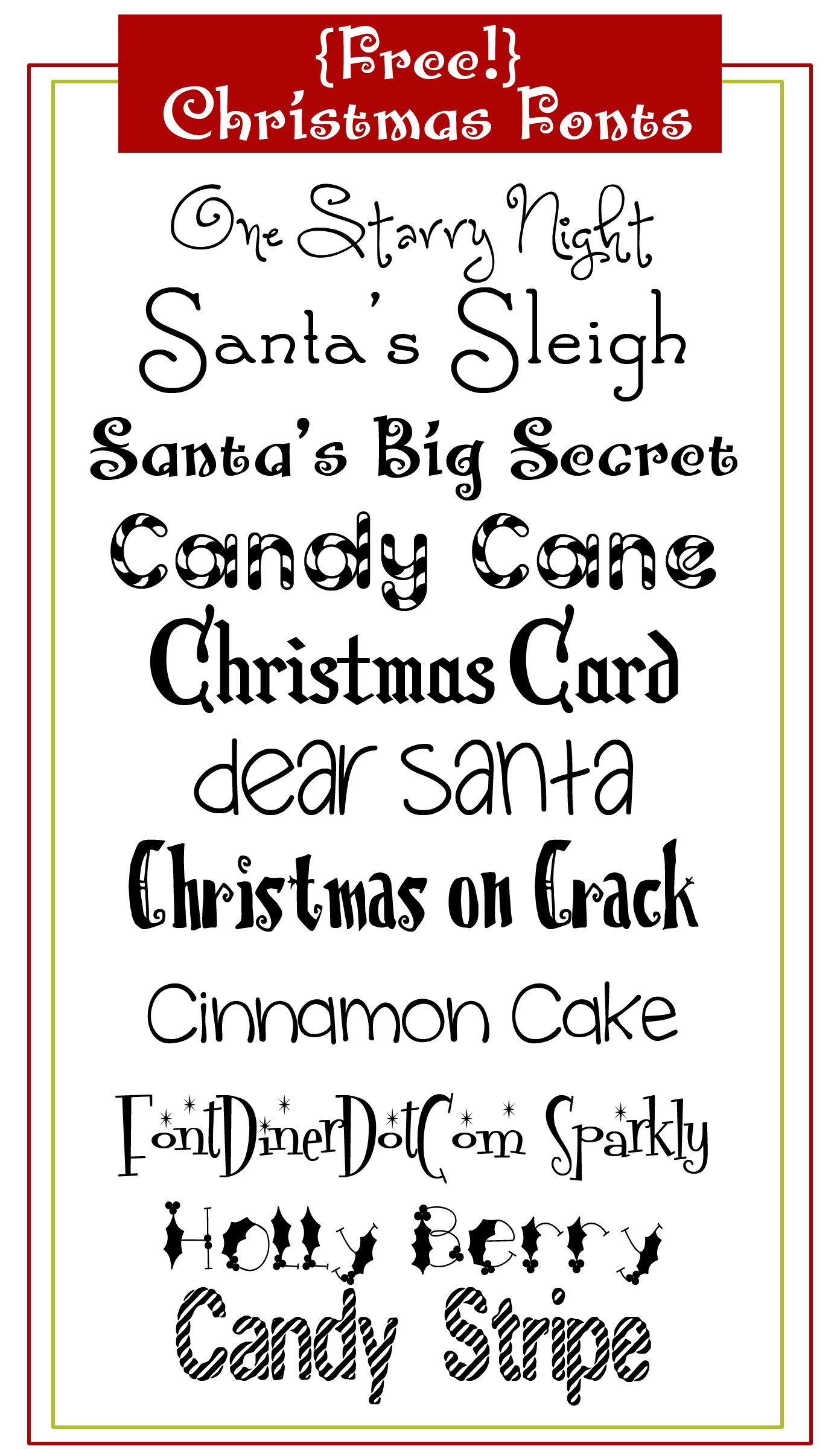 Free Christmas Fonts Christmas fonts and Fonts