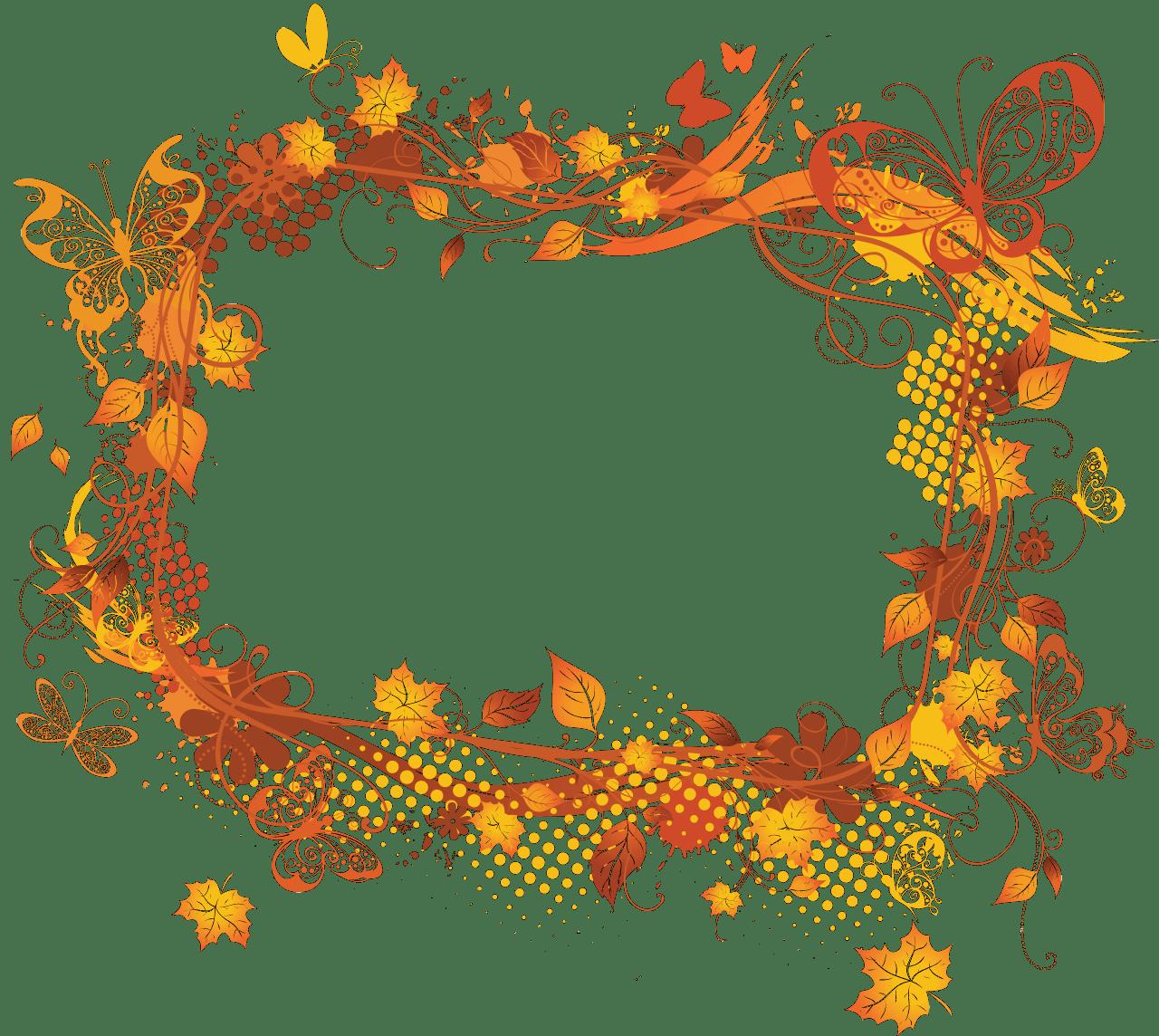 AutumnFloralPictureFrameDesign FRAMES and CORNERS 1