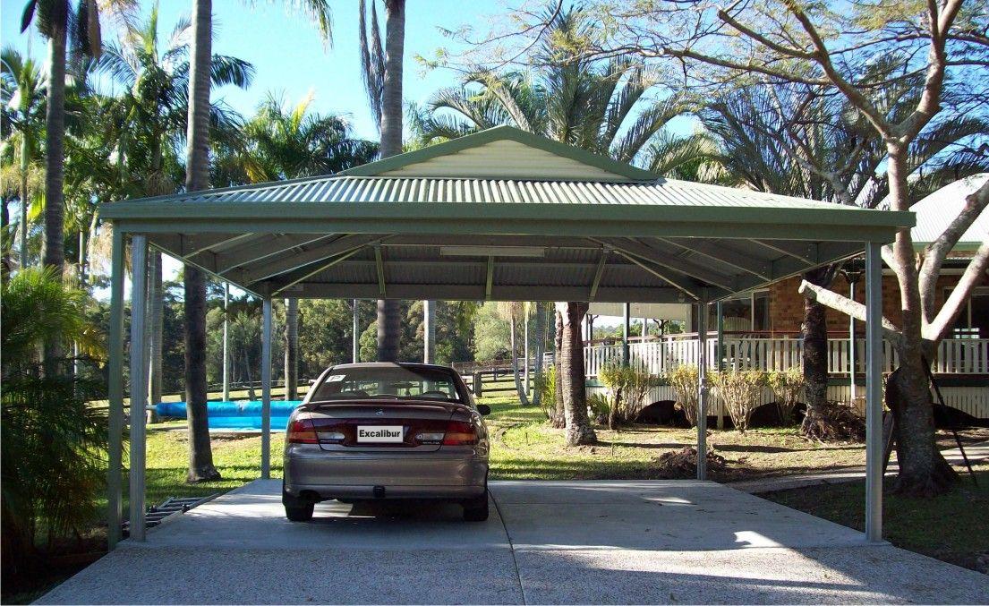 Dutch Gable Carport, double carport size for 2 cars. 6m x