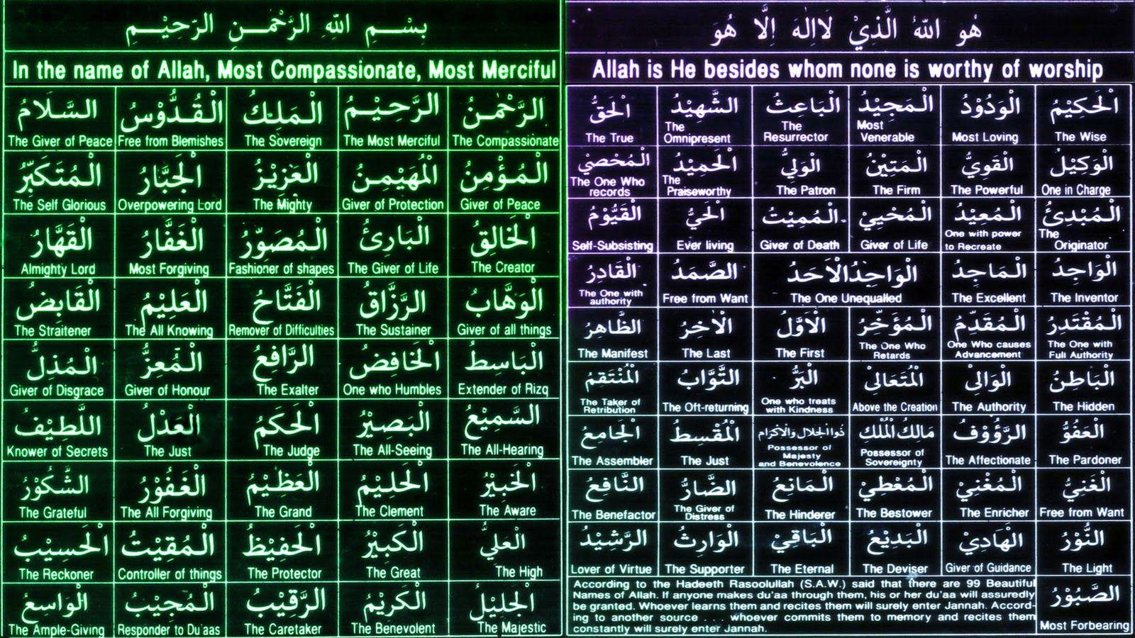 Belajar hikmah Al Quran Berdoalah dengan Asmaul Husna