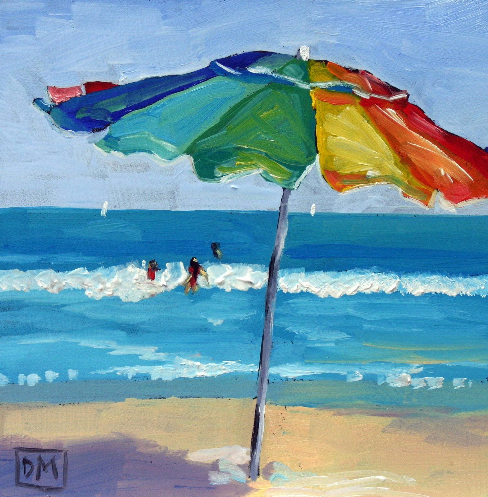 Debbie Miller Painting Lifes a Beach daily painting