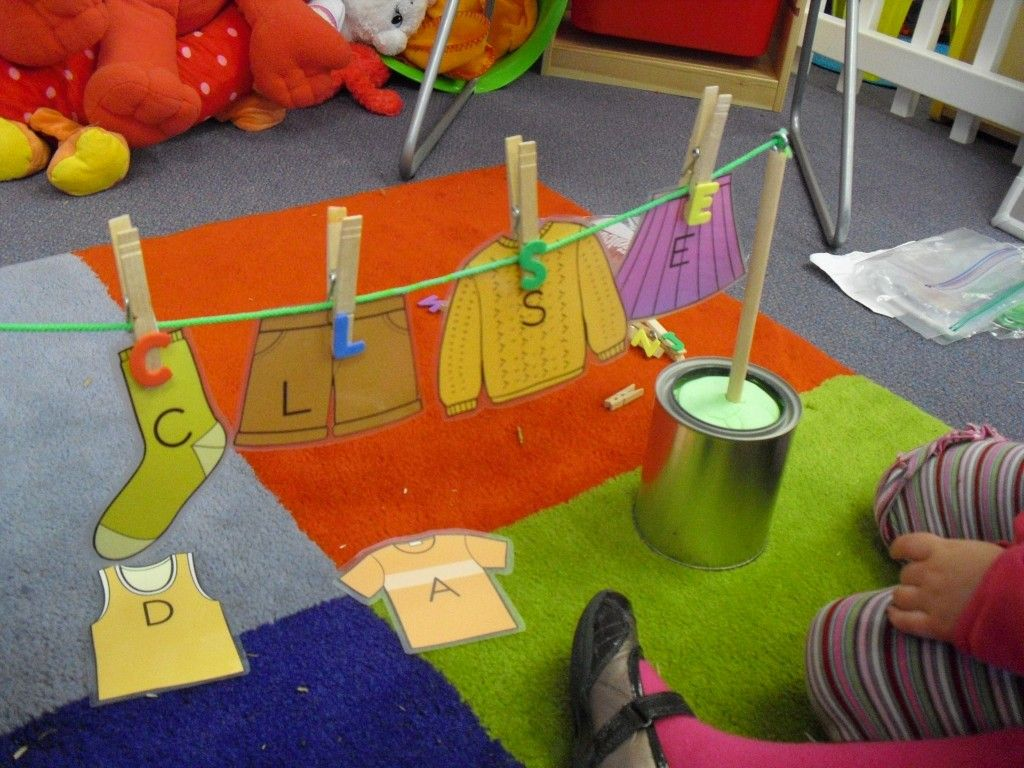 Clothes Pin Letter Matching