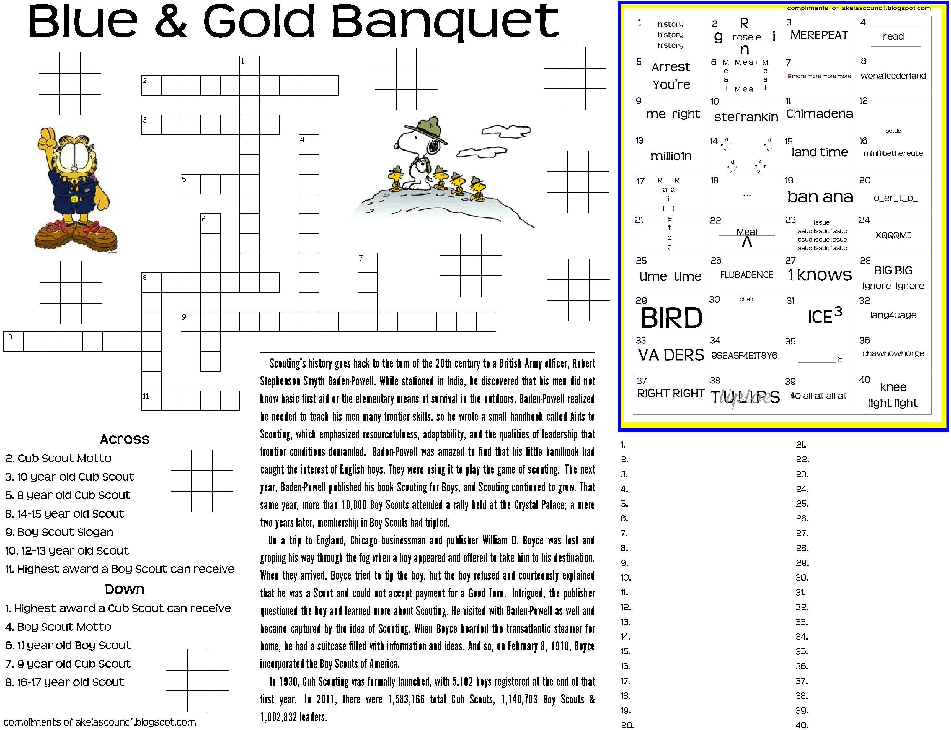 Blue Gold Puzzle Placemat 8 5x11 High Quality