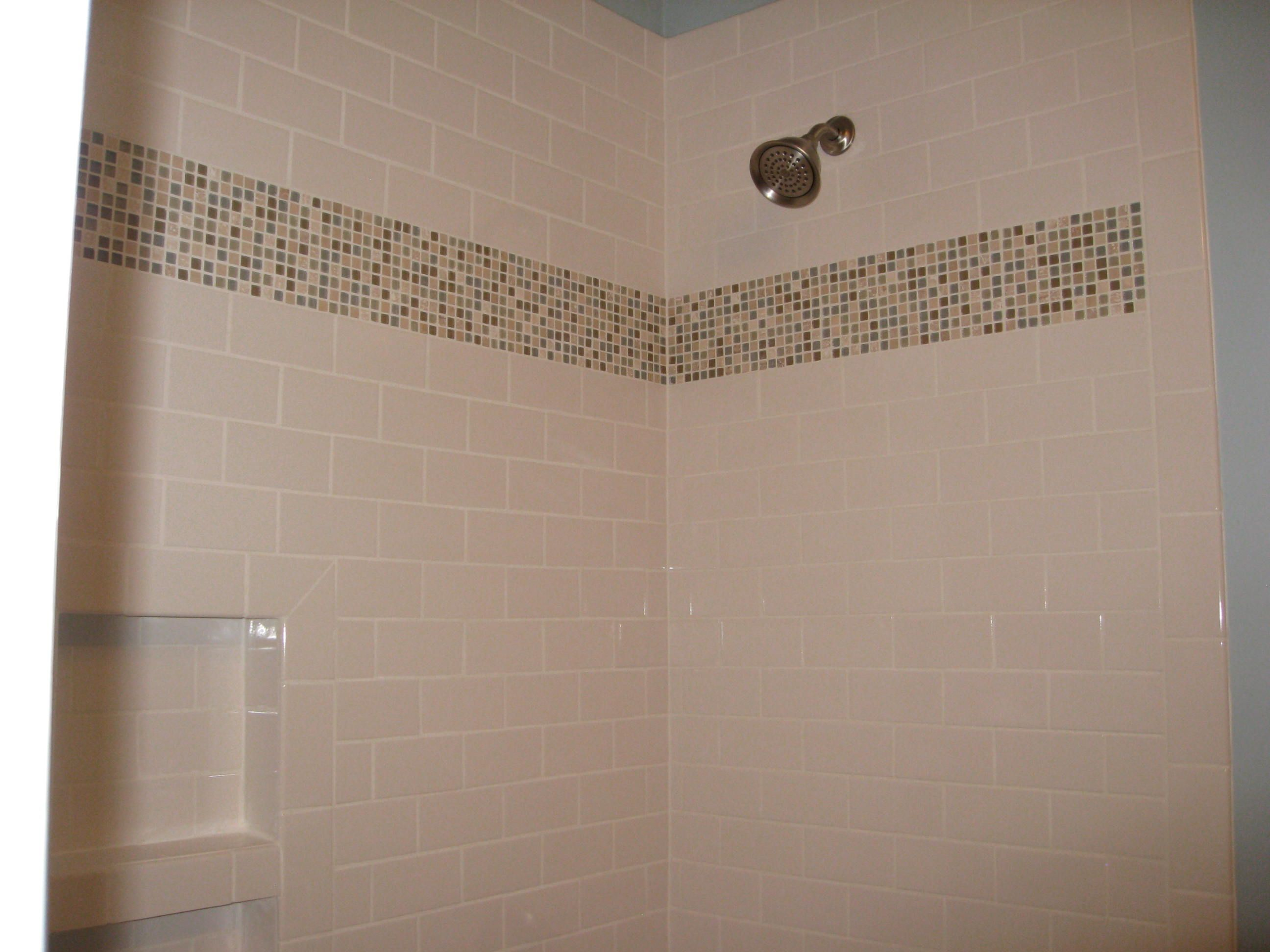 Mosaic Placement For 'blue' Bathroom. 4x4 White Tiles