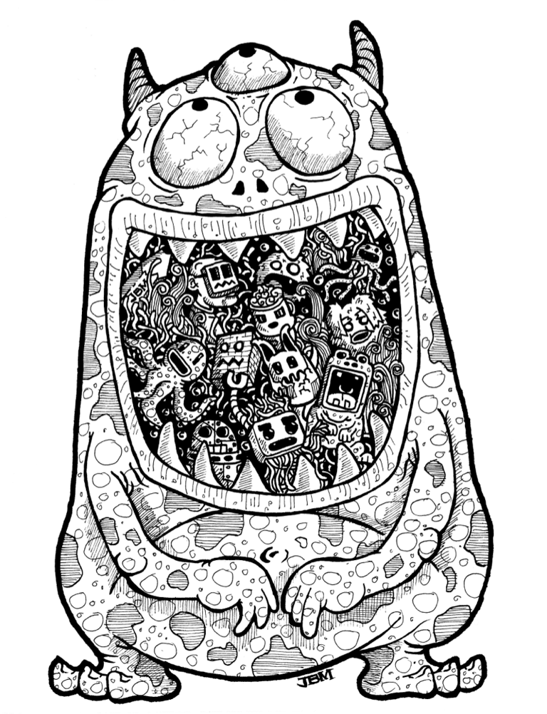 """""""The Monster Who Ate My Doodles"""" by Jeramel Marasigan. See"""