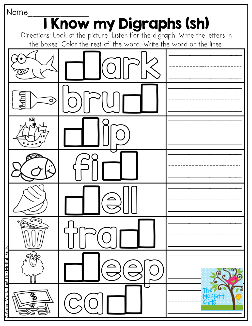 I Know My Digraphs Sh Great Introduction To Beginning