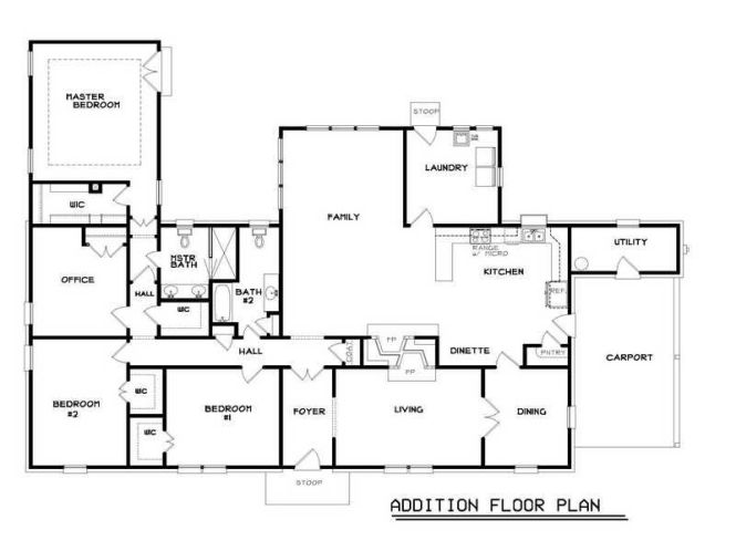 Ranch Home Floor Plans Por Addition Luxury House Family