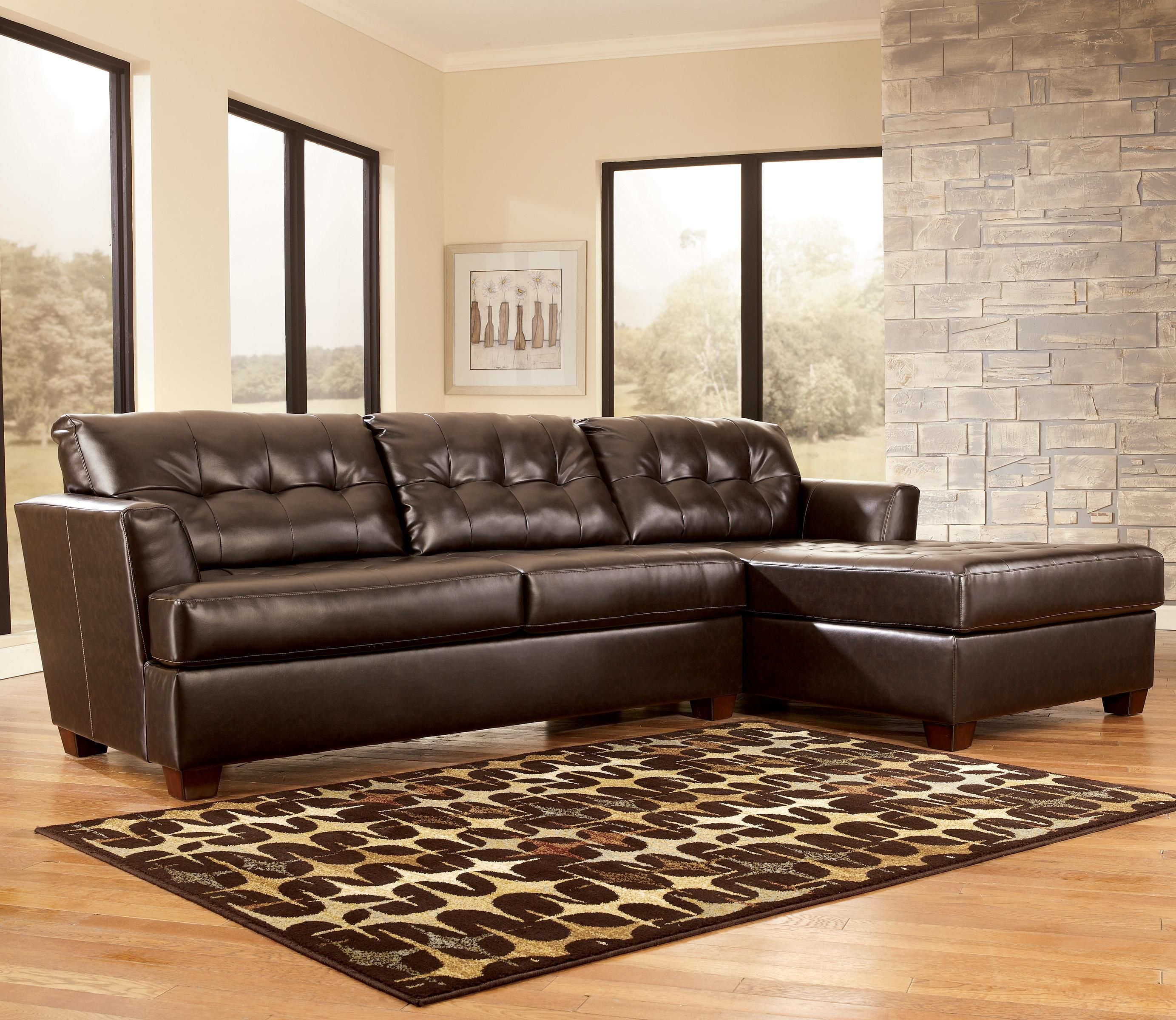 Dixon DuraBlend Chocolate Sectional Sofa By Signature Design By Ashley Furniture 79995