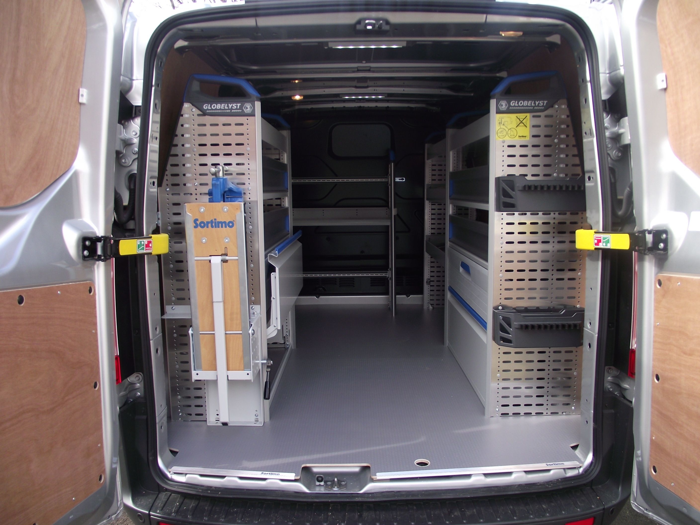 Sortimo racking into a Ford Transit Custom Sortimo