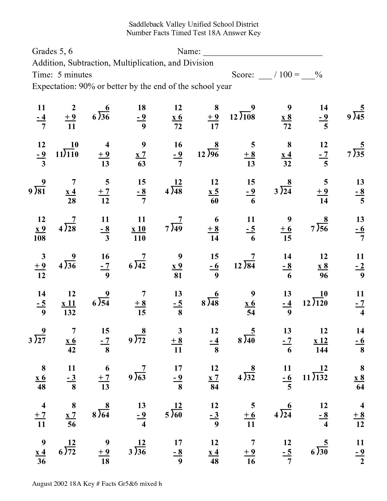 Dditi Subtr Cti Multiplic Ti Nd Divisi W Ksheets