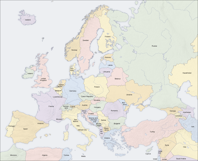 Modern Europe Political Map