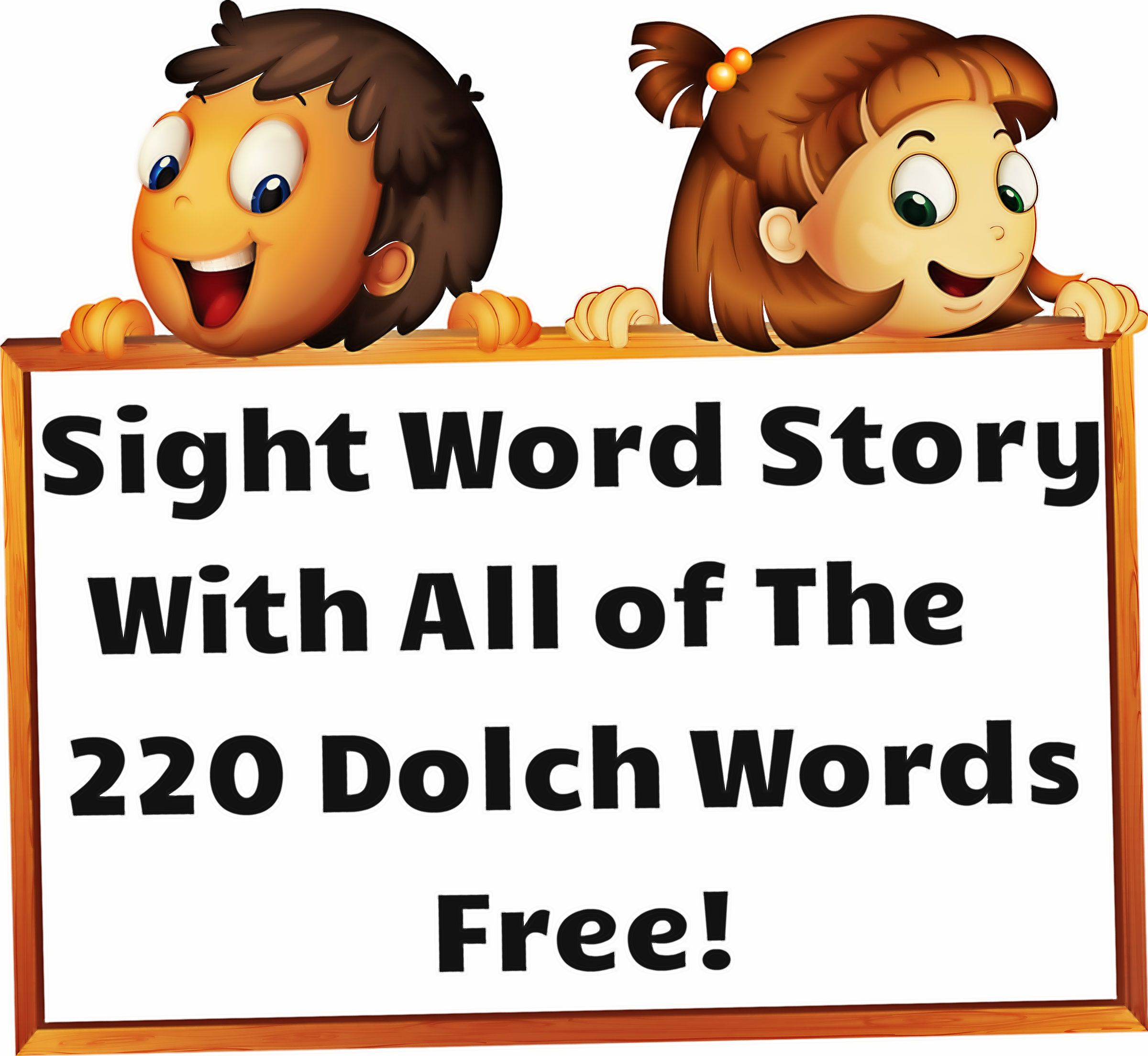 Sight Word Story With All 220 Dolch Words Free Download