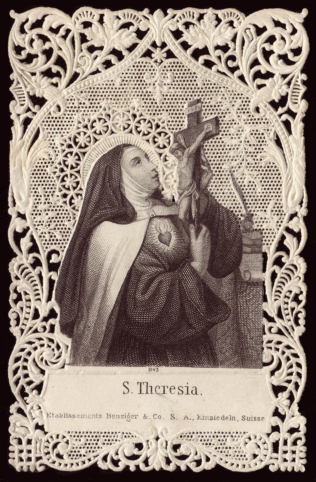 Holy Card Heaven St. Teresa of Jesus Feast Day, October