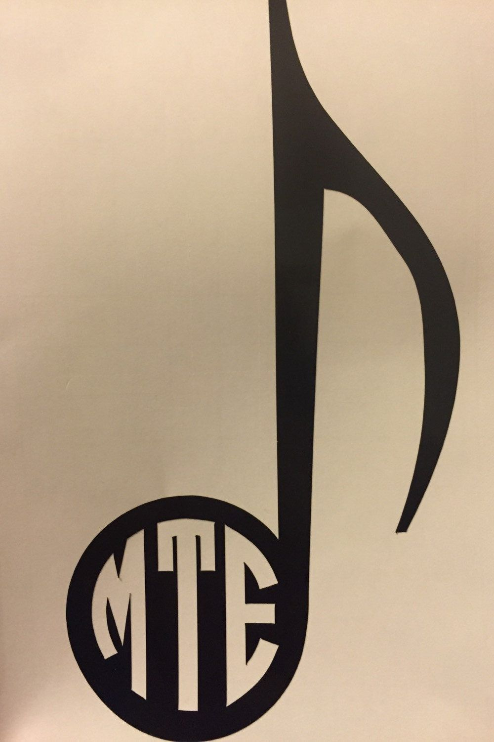 Music note monogram, A must for music lovers by